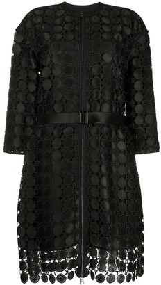 Karl Lagerfeld Paris Embroidered Circle Lace Coat