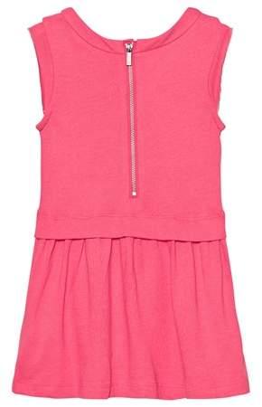 Karl Lagerfeld Pink Choupette Headphones Print Jersey Dress