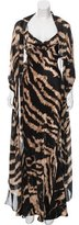 Roberto Cavalli Silk Abstract Dress