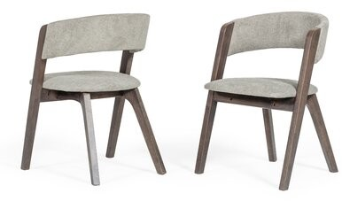 Orren Ellis Ghonge Upholstered Side Chair In Gray Shopstyle
