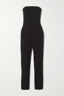 Marika Vera Jessica Strapless Stretch-crepe Jumpsuit - Black