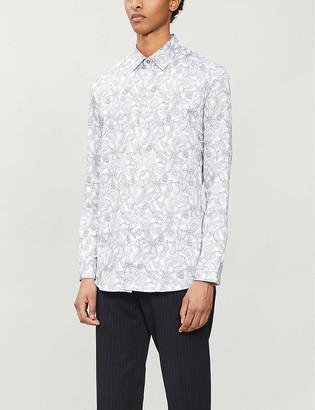 Ted Baker Paisley-print regular-fit cotton shirt