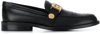 GCDS logo plaque loafers