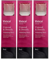 Viviscal Conceal & Densify Volumizing Hair Fibres - Black (3 pack)