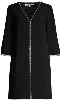 Trina Turk Rhinestone Embellished Shift Dress