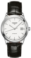 Longines Round Alligator Strap Analog Watch