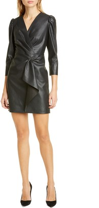 Rebecca Taylor Faux Leather Dress
