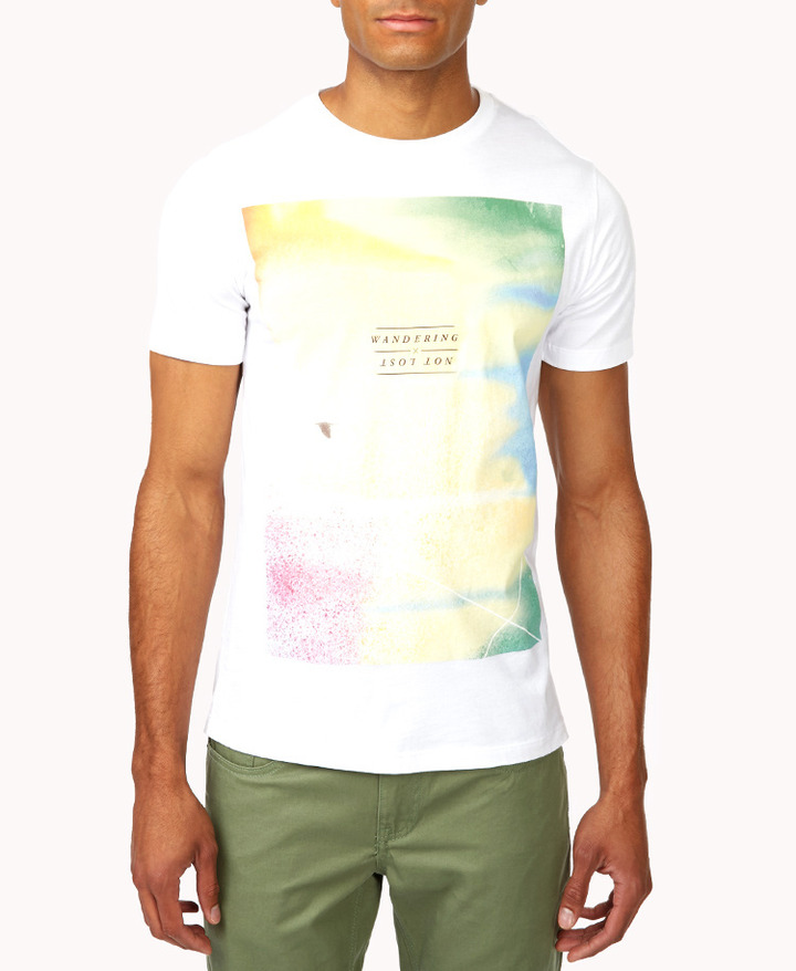 Forever 21 21 MEN Wandering Not Lost Photo Graphic Tee