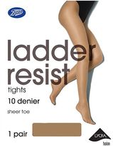 Boots 10 Denier Ladder Resist Nude Tights 1 Pair Pack