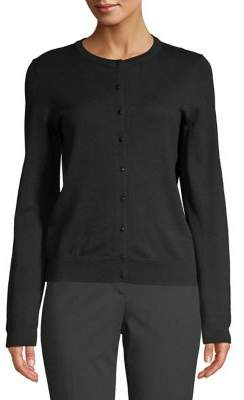 Lord & Taylor Knit Button Front Cardigan