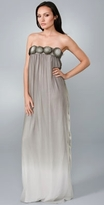 Long Ombre Rosette Tube Dress