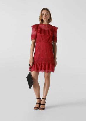 Mariah Lace Ruffle Dress