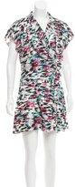 Balenciaga Silk Floral Print Dress