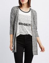 Charlotte Russe Ribbed Open Front Cardigan