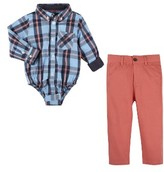 Andy & Evan Infant Boy's Shirtzie Bodysuit & Twill Pants Set