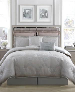 Hamilton Hall Lorient Damask 8-Pc. King Comforter Set Bedding