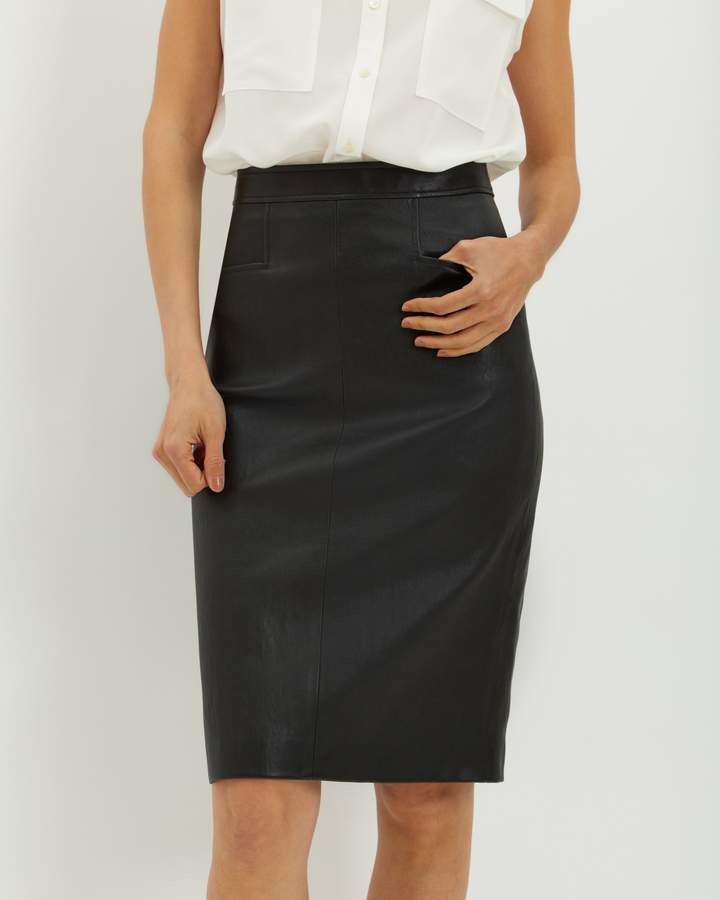 Jaeger Stretch Leather Skirt