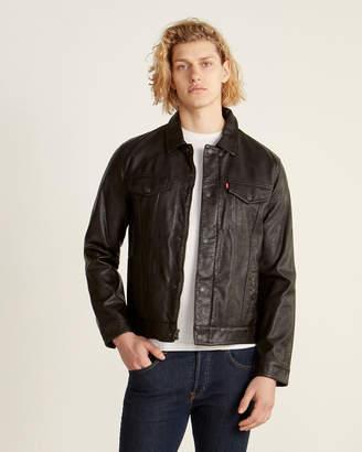 Levi's Faux Leather Trucker Jacket