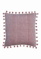 """Foreside Home & Garden Orange/White Hand Woven Lane Pillow - 18"""" x 18"""""""