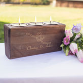 Cathy's Concepts CATHYS CONCEPTS Personalized Tie the Knot Candle Holder