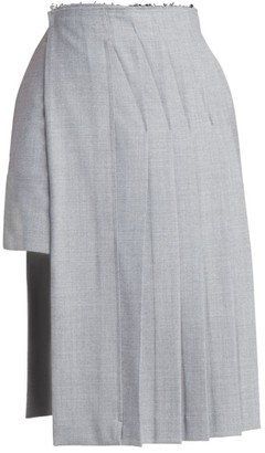 Rokh Layered Kilt Knee-Length Skirt