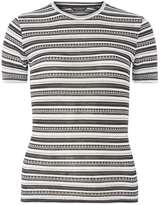 Dorothy Perkins Black and ivory stripe knitted tee