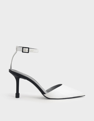 Charles & Keith Ankle Strap Pointed Toe Pumps