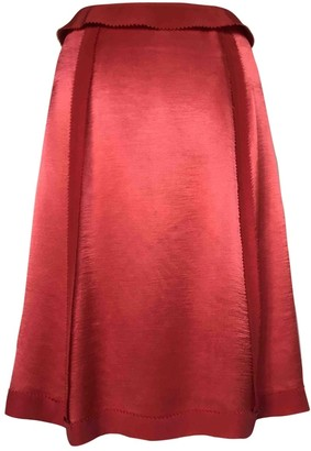 Maison Margiela Red Viscose Skirts