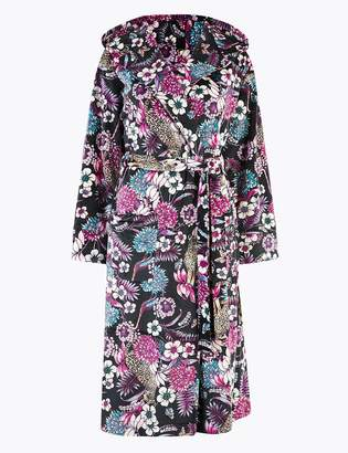 M&S CollectionMarks and Spencer Fleece Hooded Long Dressing Gown