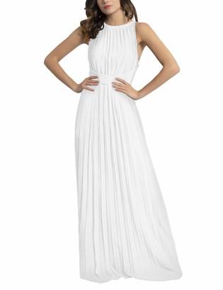 APART Fashion Women's Apart Elegantes Damen Kleid Abendkleid plissierter Chiffon lockeres Taillenband klassischer Schnitt Special Occasion Dress
