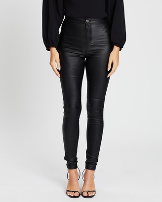 Missguided Vice High-Waisted Coated Skinny Jeans