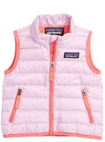 Patagonia Infant Girl's Water Resistant Down Insulated Vest