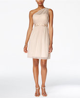 Adrianna Papell One-Shoulder Embellished Dress