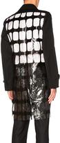 Comme des Garcons PVC Urethane Pigment Print & Wool Gabardine Coat