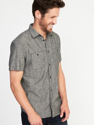 Old Navy Slim-Fit Chambray Shirt For Men