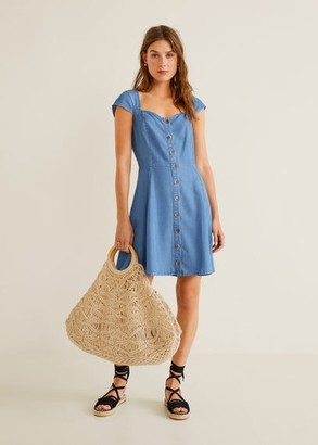 MANGO Soft denim dress medium blue - 2 - Women