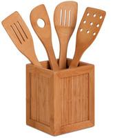 Honey-Can-Do Bamboo Kitchen Utensil Caddy Set