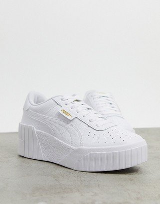 Puma Cali Wedge trainers in white