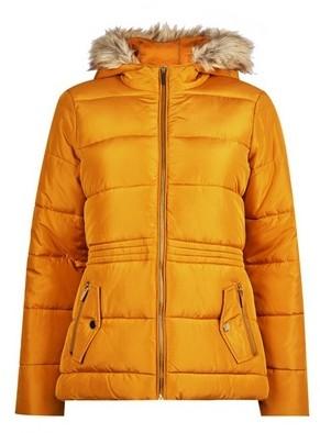 Dorothy Perkins Womens Dp Petite Yellow Hooded Coat