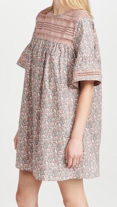 ENGLISH FACTORY Floral Lace Trim Dress