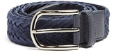 Tod's Woven Suede And Leather Belt