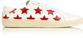 Saint Laurent Court Classic star-appliqué leather trainers