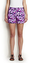 """Classic Women's Petite Not-Too-Low Rise 5"""" Chino Shorts-Jet Black Floral"""