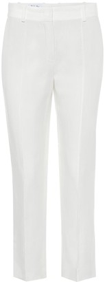 Loro Piana Derk Antigua high-rise straight linen pants