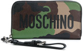 Moschino logo camouflage wallet