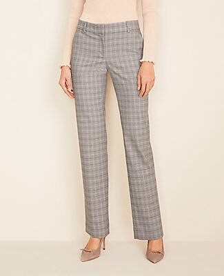 Ann Taylor The Straight Pant in Plaid - Curvy Fit
