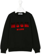 MSGM dégradé logo print sweatshirt - kids - Cotton - 4 yrs