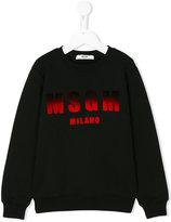 MSGM dégradé logo print sweatshirt