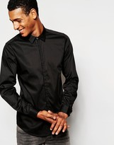 Antony Morato Shirt With Placket Binding In Slim Fit - Black