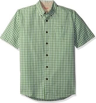 Wrangler Authentics Mens Short Sleeve Plaid Woven Shirt